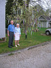 Gene and Donna and the dogwood tree - it looks wonderful!