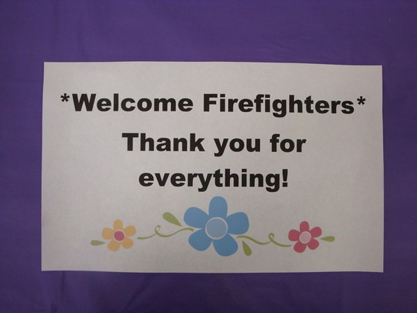 In June we held a special blessing service for our county firefighters
