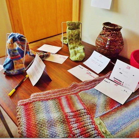 Sandy Ridenour's shawl and Margie Hill's socks.