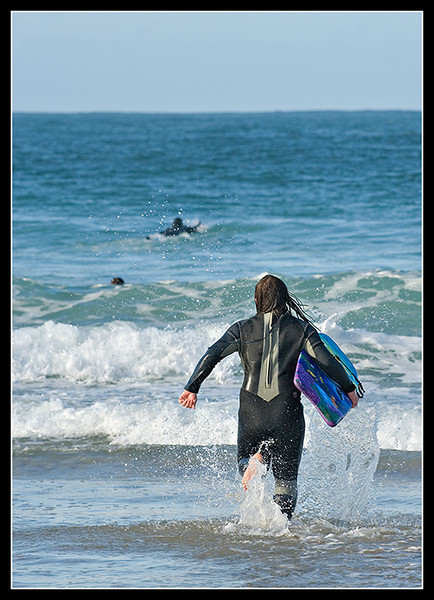 Wait for me!<br /> <br /> Porthmeor beach, St Ives, Cornwall