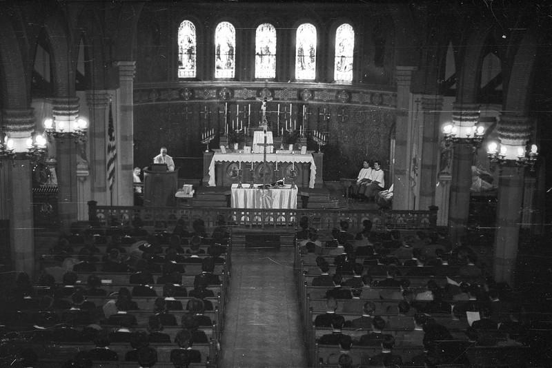Bishop Navagh celebrates mass at St. Mary's