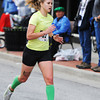Globe/T. Rob Brown<br /> The women's winner of the St. Patty's Revenge 5K, Victoria Kline, of Miami, Okla., heads toward her 19:09.2 finish Saturday morning, March 16, 2013, on Main Street in downtown Joplin.