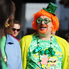 Globe/T. Rob Brown<br /> Jerry Reinke, of Joplin, shows his holiday spirit while talking to others in the crowd during the St. Patrick's Day Parade on Main Street Saturday morning, March 16, 2013, in downtown Joplin.