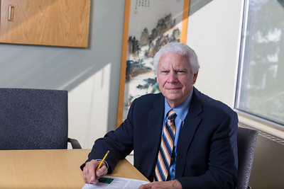 UAA Provost, Duane Hrncir, poses in his office in the Admin building on the campus of the University of Alaska Anchorage  20171006-provost-duane-hrncir-TEK-001.JPG