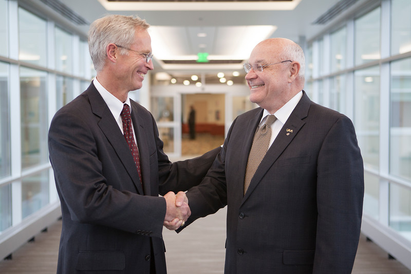 President Johnsen and Chancellor Case