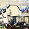 Globe/Roger Nomer<br /> A mural at the Le-Ru Telephone Company depicst the Lentz and Carter Mercantile Store from Stella's past.