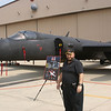 Standing by U2 plane at Osan air base Korea