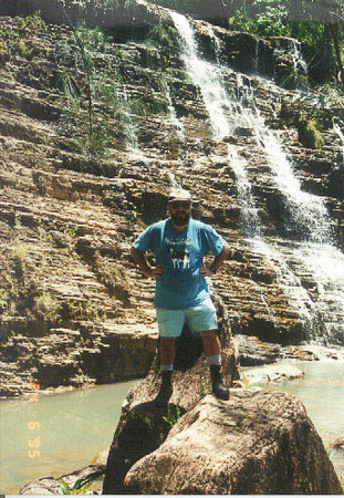At the bottom of Tarzan falls in Guam