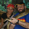 Holding the python at Zoobic at Subic at Subic Bay in the Philippines