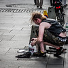 Keeping the lid on the paraffin <br /> Edinburgh Fire Juggler tenders the parrafin