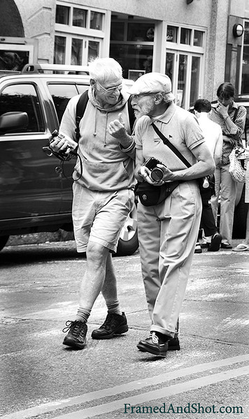 <strong><center>Old Friends<br> Friendship isn't a big thing – it's a million little things. It is good to have old friends.  All the wonderful things I have read and heard and felt about friendship came to me when I saw these two men. Walking, talking, explaining and laughing, both with cameras in hand, exploring a new city together. How wonderful – just like I want to be – many years from now!  When we honestly ask ourselves which person in our lives mean the most to us, we often find that it is those who, instead of giving advice, solutions, or cures, have chosen rather to share our pain and touch our wounds with a warm and tender hand.  The friend who can be silent with us in a moment of despair or confusion, who can stay with us in an hour of grief and bereavement, who can tolerate not knowing, not curing, not healing and face with us the reality of our powerlessness, that is a friend who cares. ~Henri Nouwen