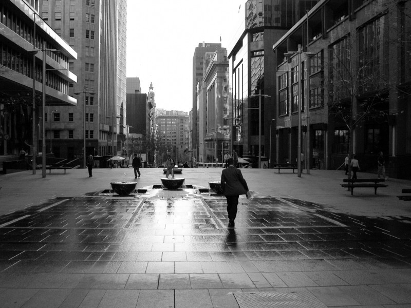 Martin Pl, Sydney, Australia<br /> The sculpture 'Passage', by Anne Graham. Martin Place.