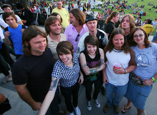 Tegan and Sara with friends.