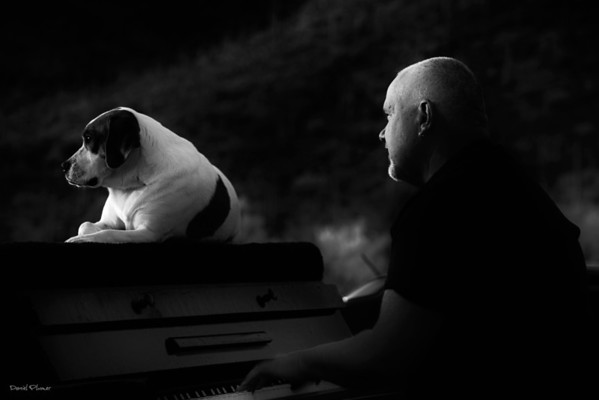Piano Man And His Dog Mo