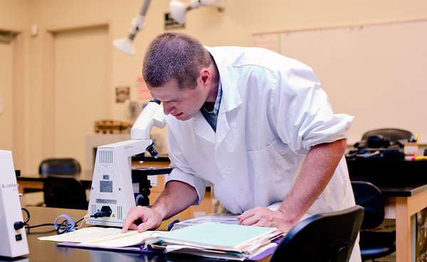 folsom lake college, 2010, students, science, lab, classroom, biology, microscope