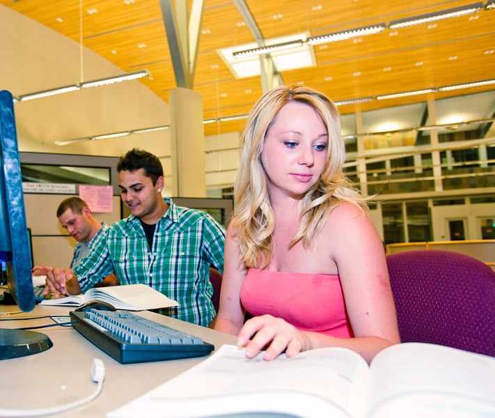 folsom lake college, 2010, students, library, books, study, group