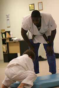 Brandon Beach and his Karate class in Shelby, NC; 2008