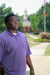 Senior Class president Chad Roseboro; Fall 2011.