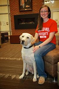 Chelsea Usher and Tucker return to GWU for Homecoming.