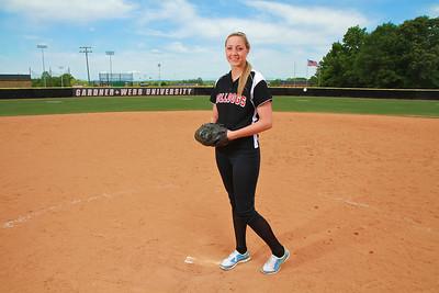 Cindy Boomhower; Fifth Year Senior Softball Spring 2012
