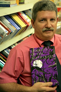 """David Putnam, teacher at Crest and author of """"Crickets of the Silver Queen."""" 2010"""
