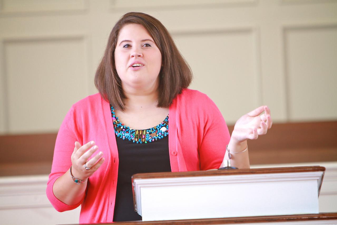 Divinity Student Jamie Fitzgerald; Fall 2014.