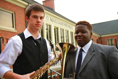 Chad Roseboro and Jordan Cox Recital photo; Spring 2012.
