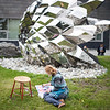 """Students drawing the sculpture outside of the ConocoPhillips Integrated Science Building on the campus of the University of Alaska Anchorage.  <div class=""""ss-paypal-button"""">20170912-sculpture-drawing-TEK-005.JPG</div><div class=""""ss-paypal-button-end""""></div>"""
