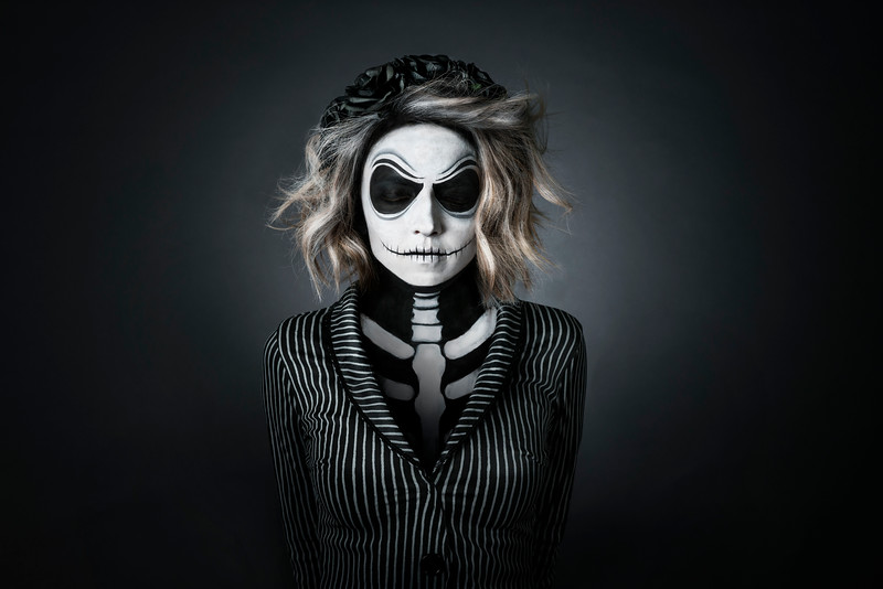 Yuliya as Lady Jack Skellington