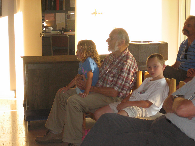 In the audience, Joe & grandchildren