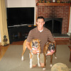 Rory and his two boxers, Riley and Sienna