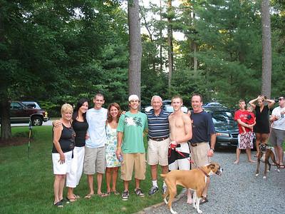 Ross's graduation party