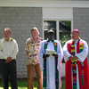 Our general contractor, Ray Pitcher, with Doug Miller, Rev. Bol Nyok and Bishop Andrade