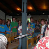Singing with a good crowd of Waycross staff who joined us for the event