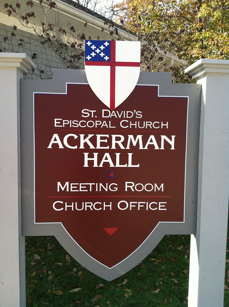 Our beautiful new Ackerman Hall sign