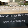 New Worship and Pastor sign