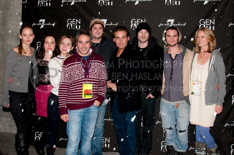 PARK CITY, UT - JANUARY 22:  The seven honorees and two promoters of the GenArt 7 Fresh Faces in Film at the Sky Lodge on January 22, 2010 in Park City, Utah.