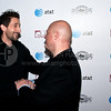 PARK CITY, UT - JANUARY 24: Actors Adrien Brody (L) and Michael Chiklis (R) together on the red carpet for the 'HIGH school' premiere party at The Film Lounge on January 24, 2010 in Park City, Utah.