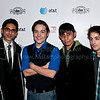 PARK CITY, UT - JANUARY 24: Actors Adhir Kalyan, Sean Marquette, Luis Chavez and Matt Bush (L-R) attend the 'HIGH school' premiere party at The Film Lounge on January 24, 2010 in Park City, Utah.