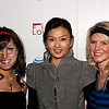 PARK CITY, UT - JANUARY 24: Actress Michelle Krusiec poses with unidentified women dressed as cheerleaders for the 'HIGH school' premiere party at The Film Lounge on January 24, 2010 in Park City, Utah.