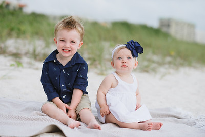 Sunset Beach Treasure Island Family Portrait Photos