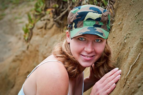 Model: Susannah Oberdorf<br /> Taken on August 1, 2010 in Half Moon Bay, California.