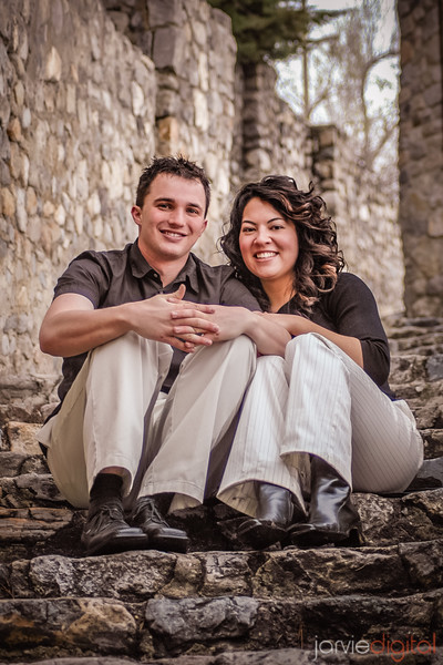 EVENT DESCRIPTION: Engagement pictures for Megan Bourgeous and Drew White taken in various locations in Provo.