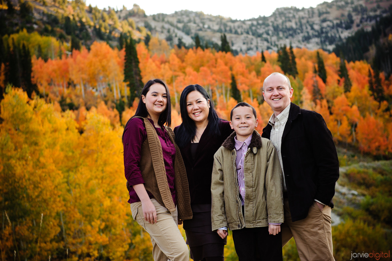 Family pictures up near Alta in Little Cottonwood Canyon