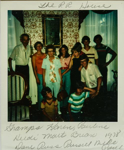 Grandpa, Karen, Pauline, Heidi;, Matt, Brian, Dave, Russ, Russell, Mike, Paul, 1978