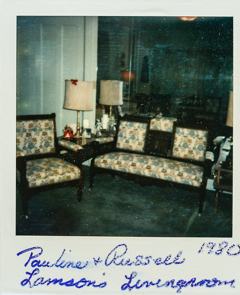 Pauline and Russell Lamson's livingroom 1980