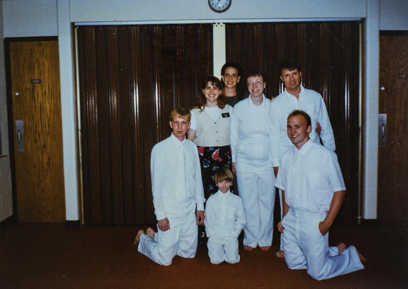 E. Webb, Sis. Kelly, me (Kristen Jarvie), Sara, Roger, Reinmar, E. Myer Baptized 7/3/96