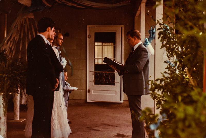 Ron and Vonda's wedding 1983