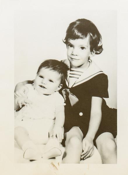 Jackie 4 years, Leah 7 months 1965