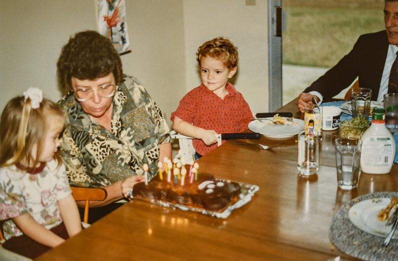Micheala, Grandma Jarvie, Remington, Grandpa R. Scott